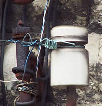 Pothead insulators in use